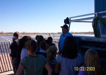Students Stand Outside During the Wastewater Facility Tour